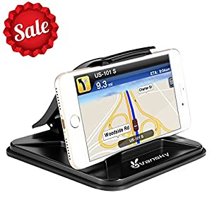 Phone Holder for Car, Vansky Dashboard Car Phone Mount iPhone 7 Plus X 8 Plus 6 6S Plus, Non-Slip GPS Holder Car Cradles for Samsung Galaxy S8 Plus Note 8 Universal 3-7 inch Smartphone [2018 Version]