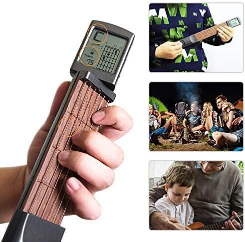 XuBa Guitarra Eléctrica Herramientas de Práctica Portátil 6 Tonos ...