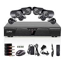 Liview® 4ch Cctv Full 960h H.264 DVR Motion Detection Security 800tvl Waterproof Night Vision Cameras DVR Kits