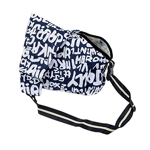 TOOGOO(R) Pet Puppy Dog Carrier Bag in tessuto Oxford Cat Piccolo Cane Coniglio Cavia dell'animale domestico pieghevole di corsa portante singola spalla Bag (Blu, formato di S)
