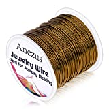 20 Gauge Jewelry Wire, Anezus Craft Wire Tarnish Resistant Copper Beading Wire for Jewelry Making Supplies and Crafting (Antique Bronze) (Color: Antique Bronze)