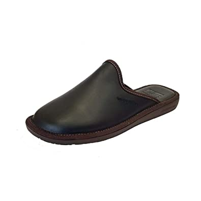 558601677fc Nordikas Top Line 131 Ohio Black Leather Mule Mens Slipper  Amazon ...