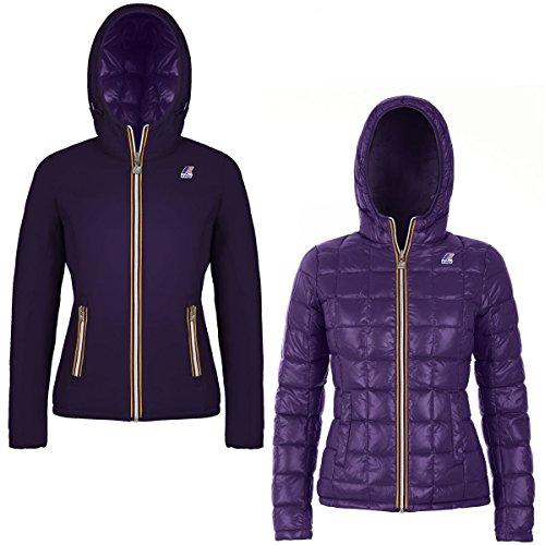 Plumas Abrigo K002II0 Way para De K Purple mujer Imperial RPZIW1Rn