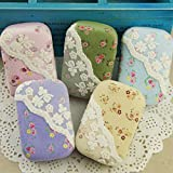 PETMALL Eyewear Cases Cute Floral Lace Canvas Contact Lenses Eyes Eyewear Accessories Mirrors+ Bottles+ Double Box+ Tweezers+ Stick Set OFFICE-227