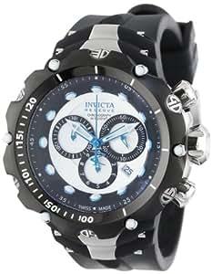 Invicta Men's 11705 Venom Chronograph Silver Dial Black Polyurethane Strap Watch