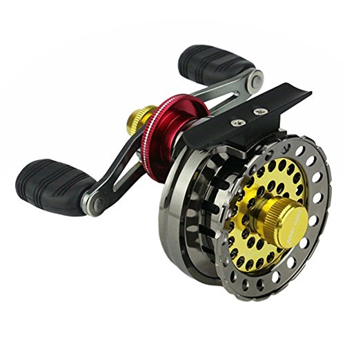 EDTara Ice Fishing Reel Right Handed Fishing Raft Wheel Metal Wire Cup Fishing Reel Fishing Raft Wheel for Ice Fishing For Sale