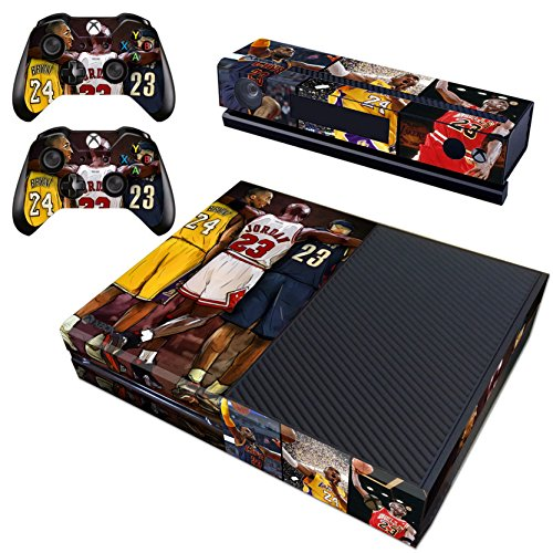 Vanknight Vinyl Decal Skin Stickers Cover for Xbox One Console Kinect 2 Controllers NBA