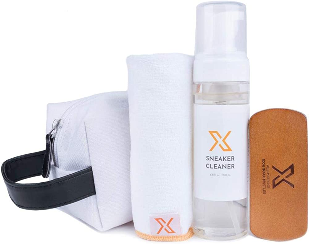 X Fresh + Clean Sneaker Cleaner Starter Kit - Sneaker Cleaner, Microfiber Cloth, All-Purpose Cleaning Brush, and Supply Bag!