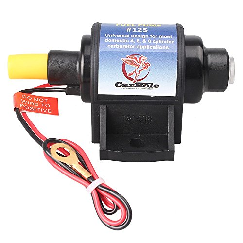 GZYF 12S Universal 5/16 inch Inlet and Outlet 12V 1-2A 35GPH 4-7 P.S.I. Shut-off Pressure Self-Priming 2-wire Design Micro Electric Fuel Pump (7 4 1)