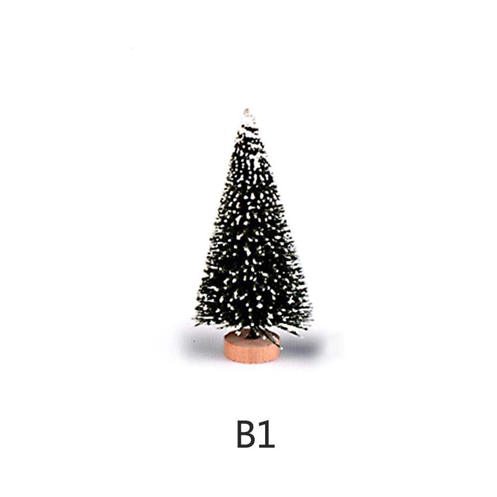 10PCS Sapin de Noel Artificiel Mini Arbre de Noël Avec Support Miniature Decoration, Matière PVC, Naturel Vert Artplants, Mini Ornements par Futurepast