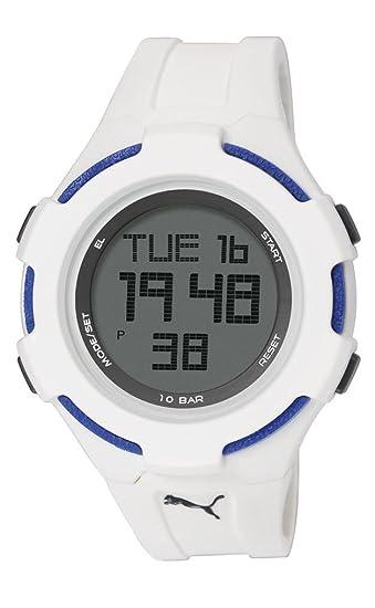 PUMA PU911061003 - Reloj Digital Unisex, Correa de Poliuretano Color Blanco: Amazon.es: Relojes