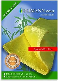 Bambú – Toalla grasa Plus, tratamiento previo – Paños secos lavable de, antibacteriano Wiper