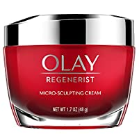Crema hidratante facial con péptidos de colágeno por Olay Regenerist, crema Micro-Sculpting, 1.7 oz