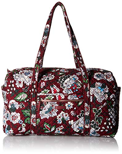 Vera Bradley Iconic Large Travel Duffel,  Signature Cotton, One Size