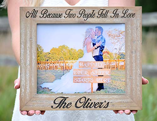 Personalized Frame - Personalized Picture Frame - Personalized Frame Wedding - Personalized Wood Frame - Engraved Wood Picture Frame Gift