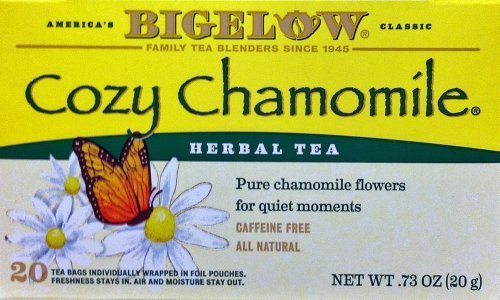 Bigelow COZY CHAMOMILE Herbal Tea - 20 Count (4 Pack)
