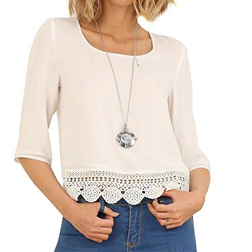 276240b4e25a4 lovely Eliacher Women s Casual Chiffon Blouse tops ...