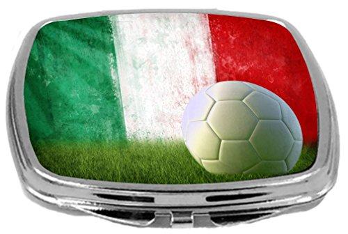 Rikki Knight Compact Mirror, Italy Soccer Grunge Wall by Rikki Knight