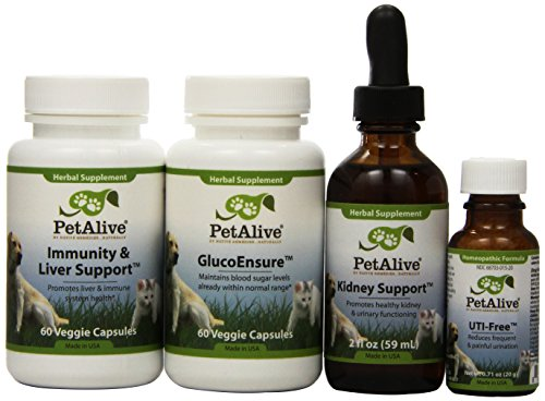 Petalive Kidney Support; Uti-free; Glucobalance And Immunity And Liver Support Superpack (one Of Each), 4 Units