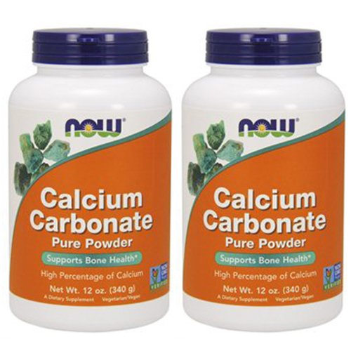 Foods Calcium - NOW Foods Calcium Carbonate, 12 Ounces (Pack of 2)