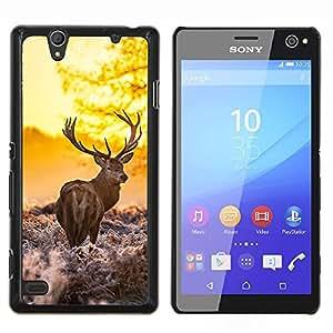 LECELL--Funda protectora / Cubierta / Piel For Sony Xperia C4 -- La mañana Majestuoso Stag --