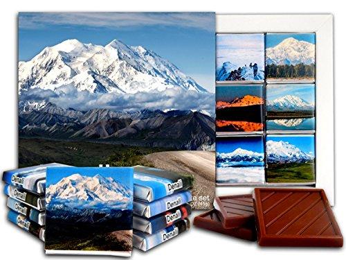 DA CHOCOLATE Candy Souvenir DENALI Chocolate Gift Set 5x5in 1 box - Denali National Clouds Range Park