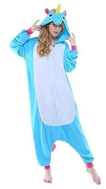 Auspicious beginning Adultos cómodo unicornio ropa de dormir pijamas Animal de disfraces de Halloween