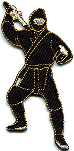 Ninja shinobi mercenary kung fu Japanese martial arts embroidered applique iron-on patch new (Japanese Martial Arts Patches)
