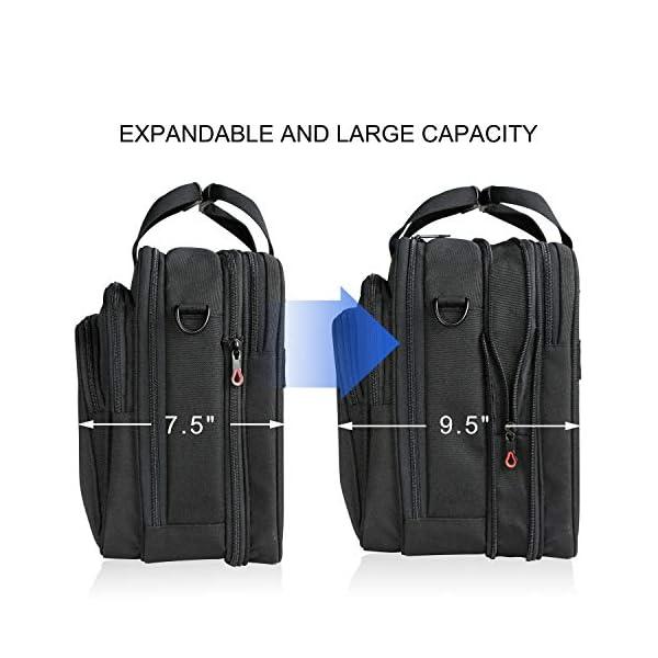 KROSER-18-Laptop-Bag-Premium-Laptop-Briefcase-Fits-Up-to-173-Inch-Laptop-Expandable-Water-Repellent-Shoulder-Messenger-Bag-Computer-Bag-for-TravelBusinessSchoolMenWomen-Black