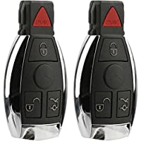 KeylessOption Keyless Entry Remote Control Car Ignition Key Fob Replacement for Mercedes IYZ3312 (Pack of 2)