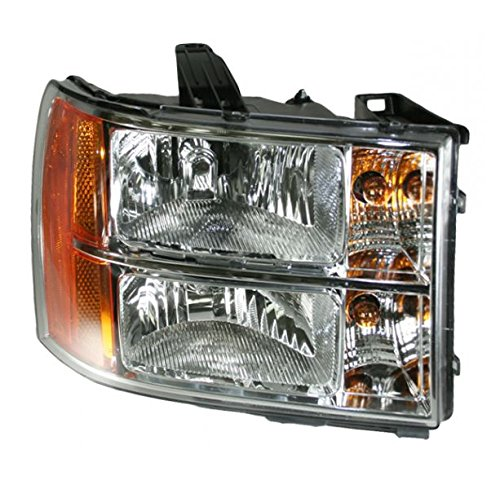 Headlight Headlamp Passenger Right Hand RH Side for 07-13 Sierra Pickup Truck