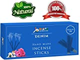 Denim-Fragrance-Incense-Sticks 100%-Natural Handmade-Hand-Dipped The-best-scent (100 Incense Sticks)