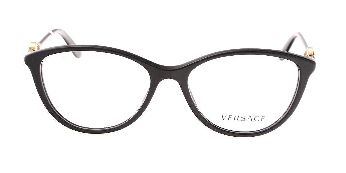 12c1d80791ff Versace Womens Prescription Eyewear Frames VE 3175 GB1 Black Sz 52   Amazon.co.uk  Clothing