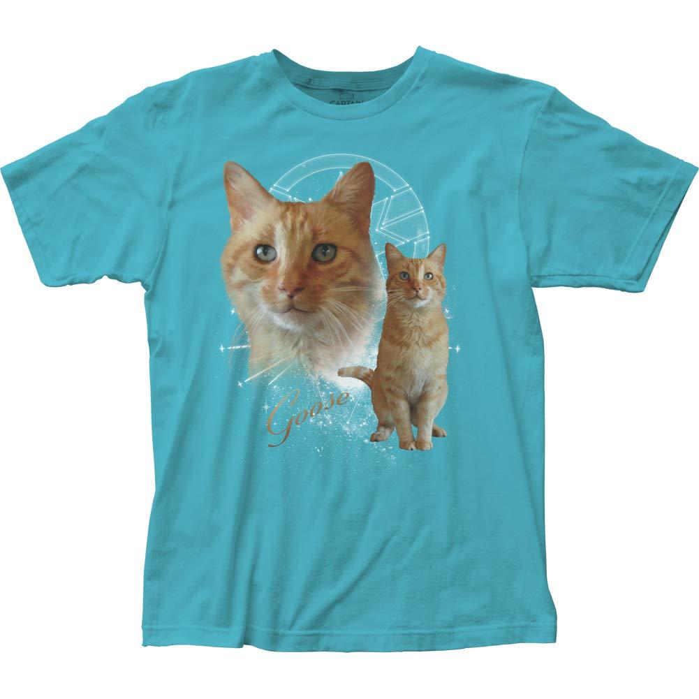 Captain Dc Comics Superhero Goose Cat Adult Fitted Shirts