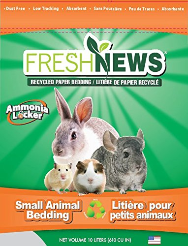 Fresh News Paper Small Animal Bedding, 10,000-Cubic Centimeter