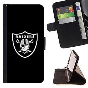 BullDog Case - FOR/HTC DESIRE 816 / - / RAIDER HOCKEY /- Monedero de cuero de la PU Llevar cubierta de la caja con el ID Credit Card Slots Flip funda de cuer