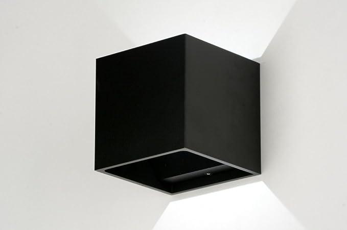 Zoxx lampada da parete design moderno in metallo nero opaco