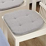 Decorative Lovely Soft Seat Cushion Chair Cushion Back Pad with Tie for Office Home Dining Room U-shaped 40x40cm