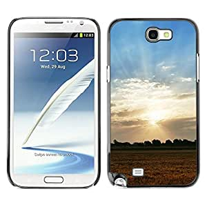 LECELL -- Funda protectora / Cubierta / Piel For Samsung Galaxy Note 2 N7100 -- Nature Field Sunset --
