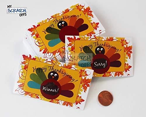 My Scratch Offs Thanksgiving Turkey Scratch Off Game Card - 25 Pack