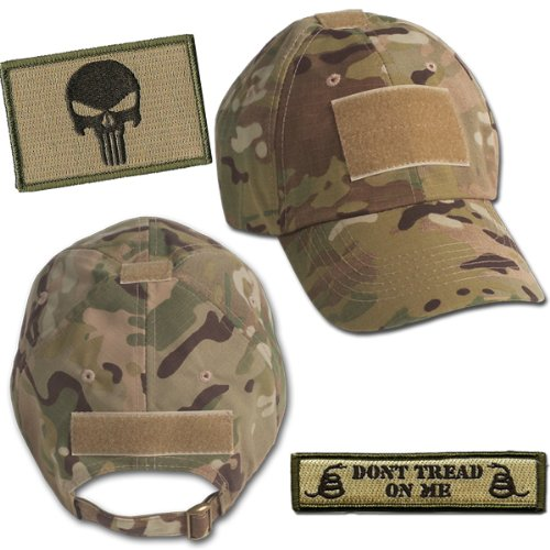 Punisher Tactical Hat & Patch Bundle (2 Patches + Hat) - (Sniper Hat)