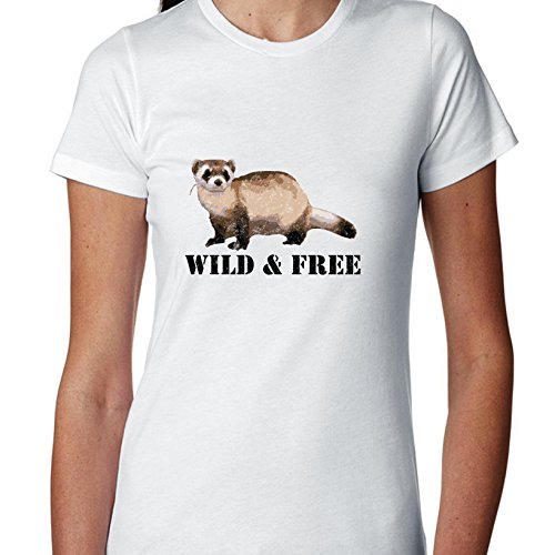 Hollywood Thread Black Footed Ferret - Endangered - Wild & Free Women's Cotton T-Shirt