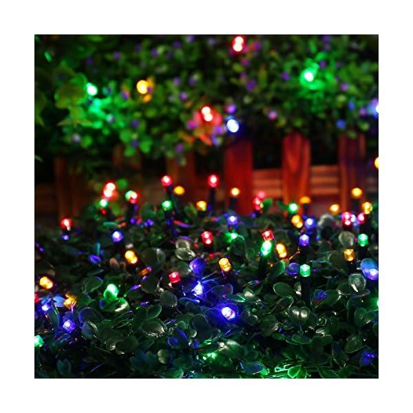 Qedertek Luci Albero di Natale, Catena Luminosa 20M 200 LED, Luci di Natale Esterno ed Interno, Filo verde scuro, Luci Colorate Addobbi Natalizi Esterno, Luci Natalizie da Esterno ed Interno 4 spesavip