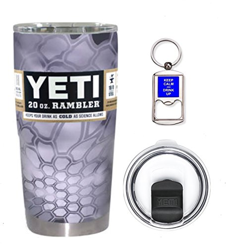 Price comparison product image YETI Coolers 20 Ounce (20oz) (20 oz) Custom Rambler Tumbler Cup Mug Bundle with New Magslider Spill Proof Lid (Dipped Kryptek Raid)