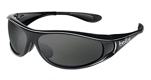 f4289eebfd Amazon.com  Bolle Sport Spiral Sunglasses (Shiny Black Polarized TNS)   Clothing