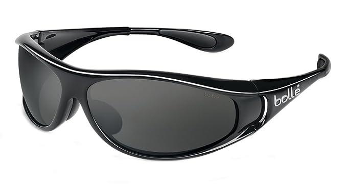 f22bf5a6845 Amazon.com  Bolle Sport Spiral Sunglasses (Shiny Black Polarized TNS)   Clothing