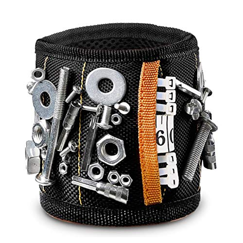 Drilling Bits and Small tools Auto Repair Bolts Screws Home Projects 3 Grids Magnetic Wristband Nails Best Tool for DIY HiMart Magnetic Screw Holder With Strong Magnets for Holding Tools
