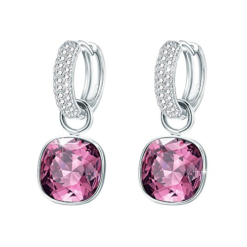 Xuping Luxury Flexible Drop Earrings Crystals from Swarovski Women Jewelry Party Gifts (Crystal Antique - Antique Crystal Pink