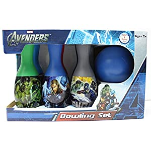 Avengers Bowling Set – Includes 6 Pins and Bowling Ball – Styles May Vary