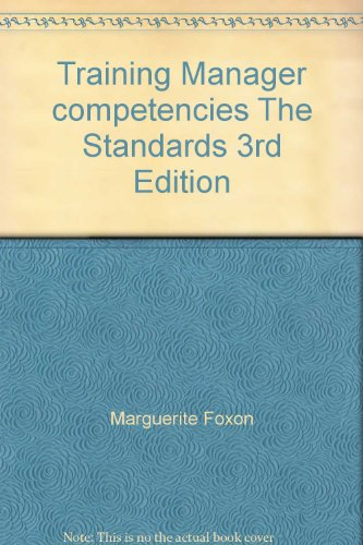 Training Manager competencies The Standards 3rd Edition